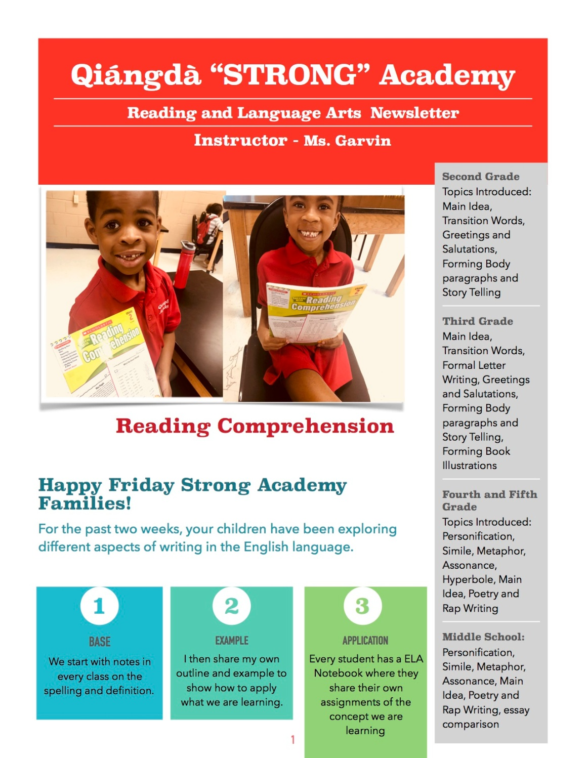 Ms.G.Newsletter Weeks1&2